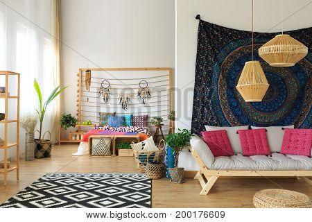 Ethnic Apartment Interior