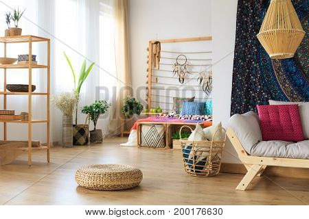 Modern Apartment In Ethnic Style