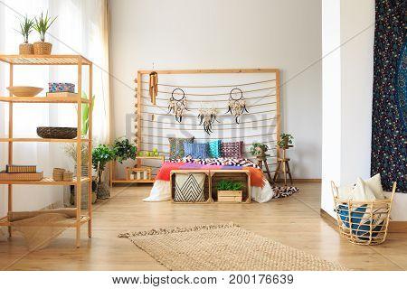 Bedroom In Ethnic Designed Apartment