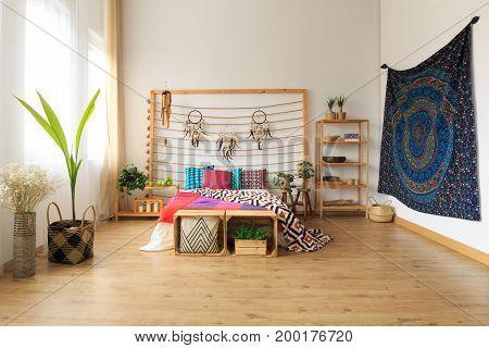 Bedroom With Ethnic Design