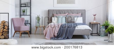 Bedroom With Plants And Flowers