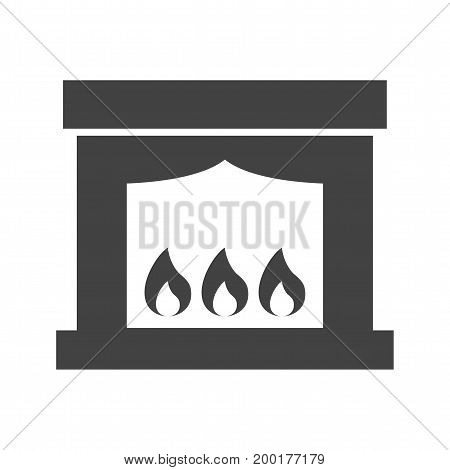 Electric, fireplace, hot icon vector image. Can also be used for Climatic Equipment. Suitable for mobile apps, web apps and print media.