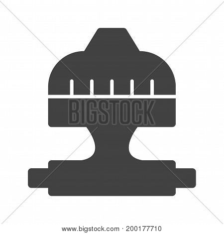 Thermostat, head, button icon vector image. Can also be used for Climatic Equipment. Suitable for use on web apps, mobile apps and print media.