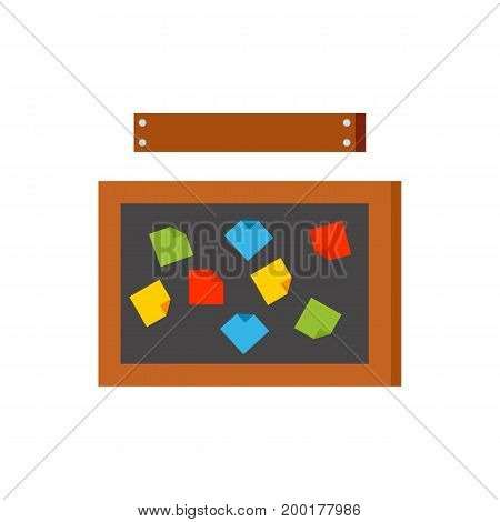 Icon of bulletin board. Note, messy, blackboard. Teamwork concept. Can be used for topics like office, creativity, workspace, brainstorming