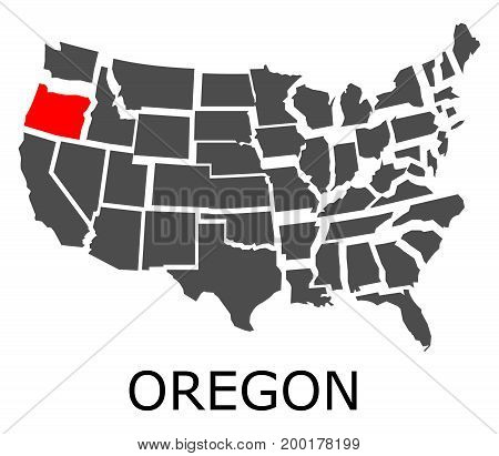 Oregon State On Usa Map