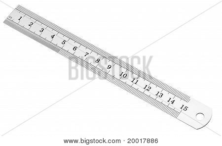 Metric And Inch Steel Ruler