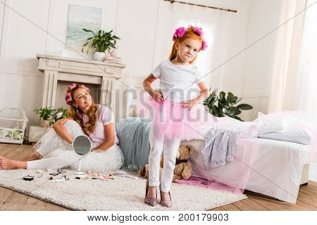 Little Girl In Mothers High Heels