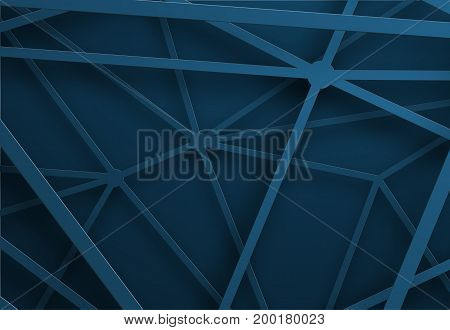 Blue Background With Lines In The Air At Different Heights