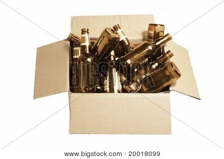 Box Of Bottles For Recycle
