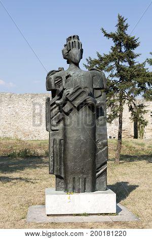 BELGRADE, SERBIA - JULY 31, 2017:Monument to the despot Stefan Lazarevich in the Belgrade Fortress Serbia.
