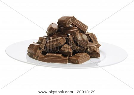 Plate Of Chocolate Pieces