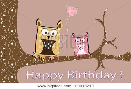 Owls lovely card