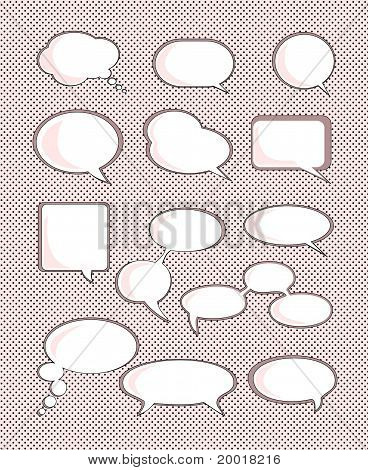 Set of speech bubble