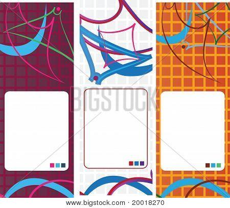 abstract geometric banner set vector design
