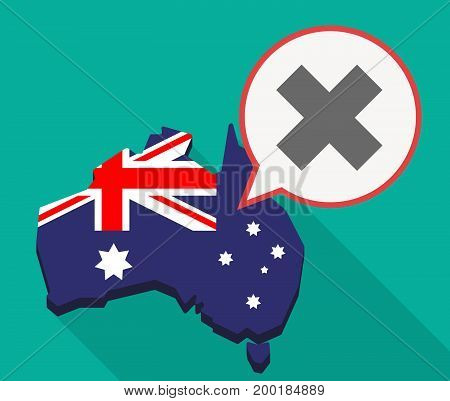 Long Shadow Australia Mmap With An X Sign