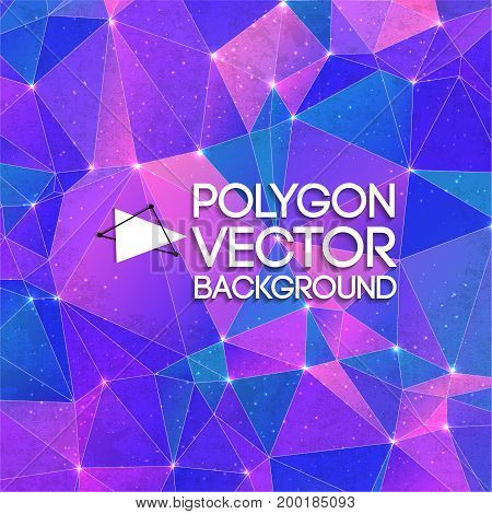 Abstract triangle vector background. Vector Illustration, eps10, contains transparencies.