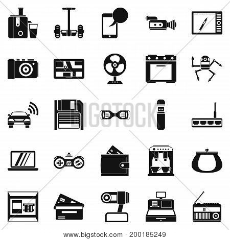 Camcorder buying icons set. Simple set of 25 camcorder buying vector icons for web isolated on white background