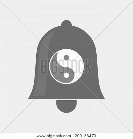 Isolated Bell With A Ying Yang