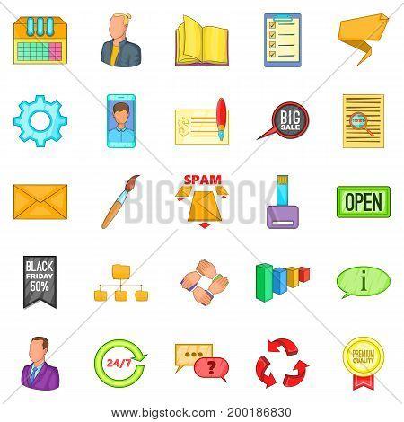 Bank phishing icons set. Cartoon set of 25 bank phishing vector icons for web isolated on white background