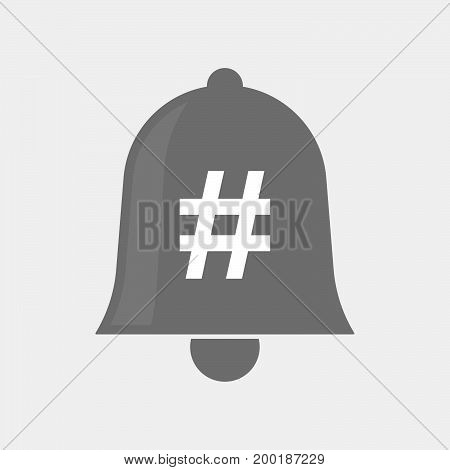 Isolated Bell With A Hash Tag