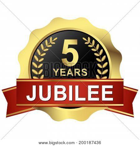 Button 5 Years Jubilee