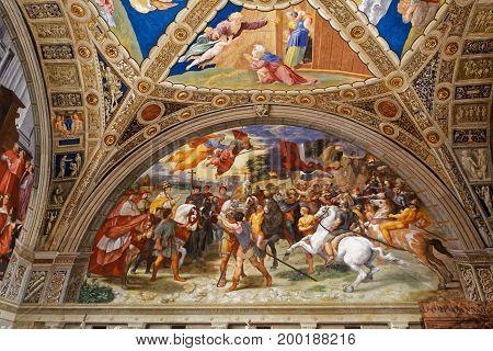 Interiors Of Raphael Rooms, Vatican Museum, Vatican