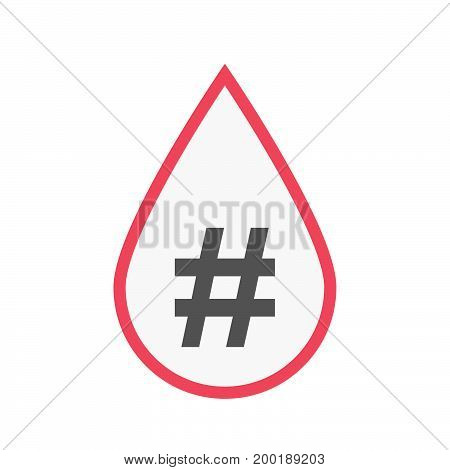 Isolated Blood Drop With A Hash Tag