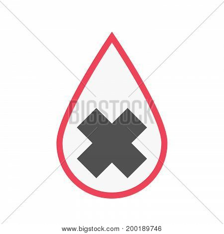 Isolated Blood Drop With An Irritating Substance Sign