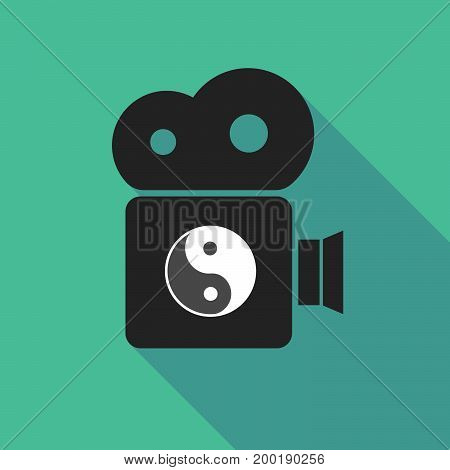Long Shadow Camera With A Ying Yang