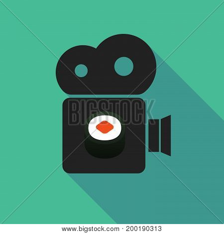 Long Shadow Camera With A Piece Of Sushi Maki