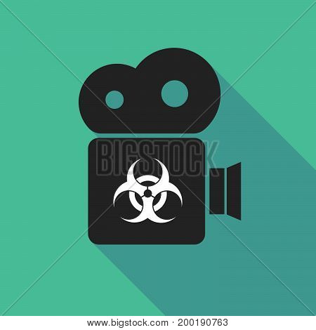 Long Shadow Camera With A Biohazard Sign