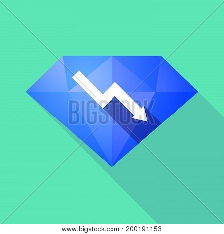 Long Shadow Diamond With A Descending Graph