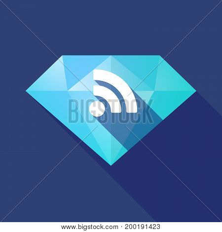Long Shadow Diamond With An Rss Sign