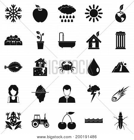Variety of species icons set. Simple set of 25 variety of species vector icons for web isolated on white background