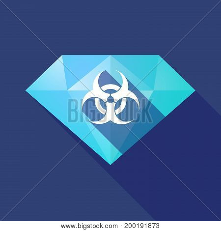 Long Shadow Diamond With A Biohazard Sign