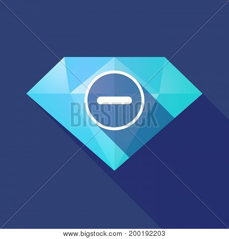 Long Shadow Diamond With A Subtraction Sign