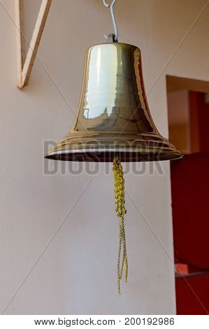 Bell in Lamae train station Thailand porvince.