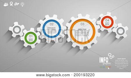 Gear Wheels Info Graphic