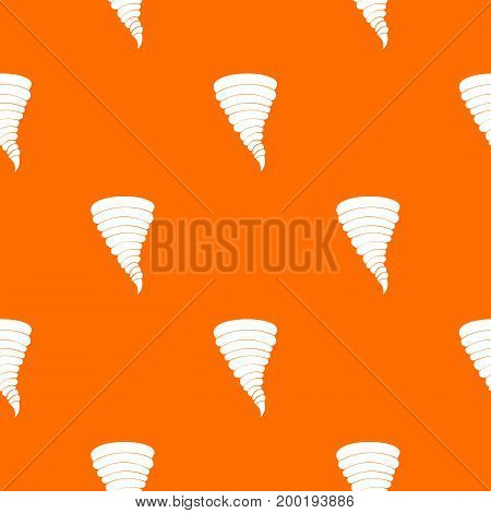 Tornado pattern repeat seamless in orange color for any design. Vector geometric illustration