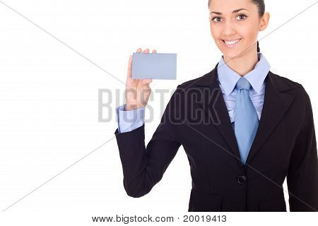 Blank Business Card