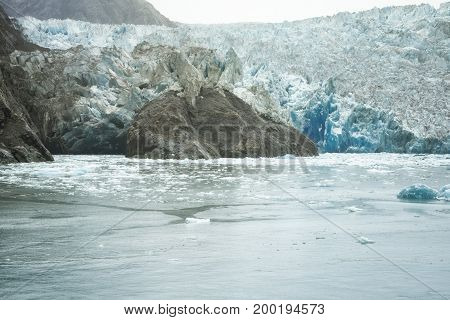 South Sawyer Glacier at the end of Tracy's Arm Alaska