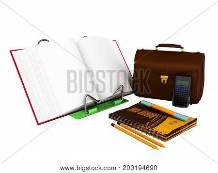 Concept Of School And Education Economy 3D Render On White Background No Shadow