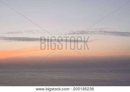 Soft Dusky Ocean Sunset