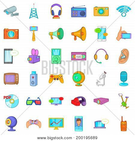 Good device icons set. Cartoon style of 36 good device vector icons for web isolated on white background