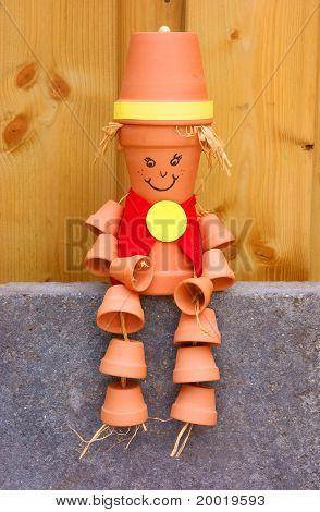 Clay Pot Figure