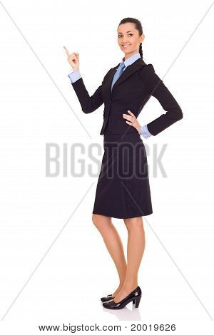 Businesswoman Showing Or Presenting
