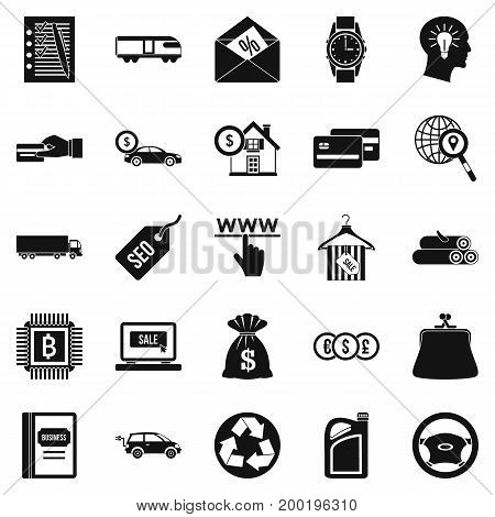 Reasonableness icons set. Simple set of 25 reasonableness vector icons for web isolated on white background