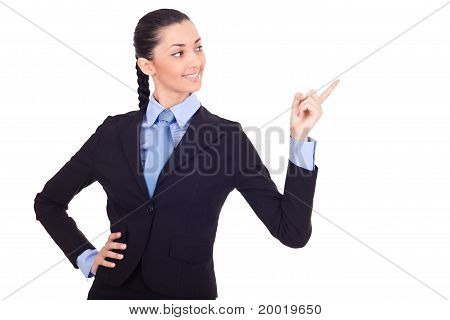 Businesswoman Pointing In Advertising