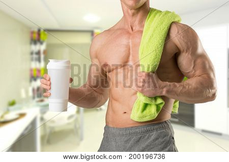 Man With Gym Bottle