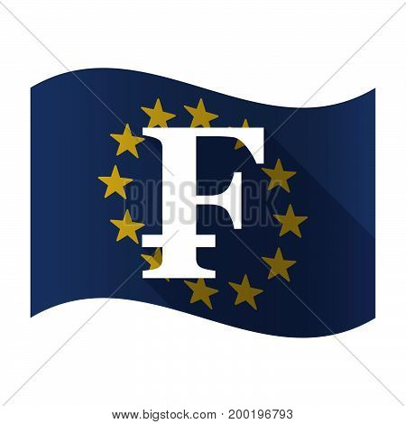 Isolated Eu Flag With A Swiss Franc Sign